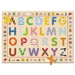 Lot de 2 puzzles encastrement lettres et chiffres