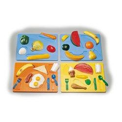Lot 5 puzzles reliefs les aliments à trier