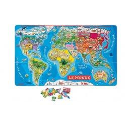 Puzzle monde magnétique