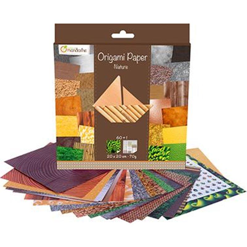 Pochette de 60 feuilles de papier origami 20x20 cm 70 g.