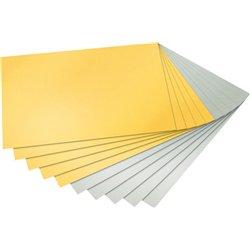 Bloc 10 feuilles carton 21x29.7 cm 300g 5 or 5 argent