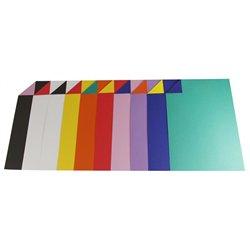 Paquet 100 feuilles cartoline bicolore A4 teintes assorties