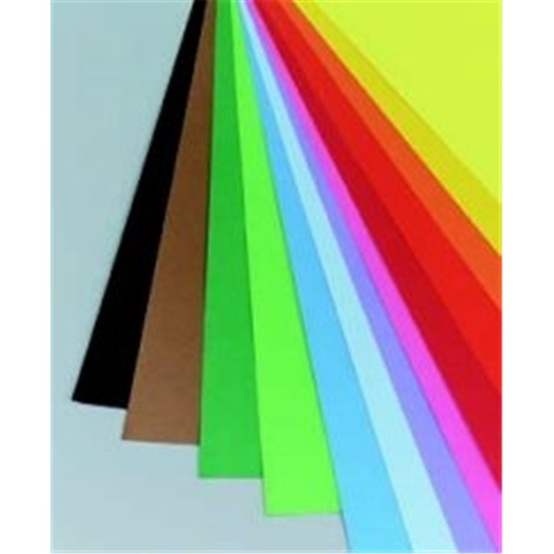 Feuille dessin couleur lisse 240g 50 x 65 cm - noir