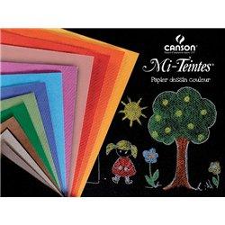 Pochette de 12 feuilles couleur assorties 160 g - 25x32 cm