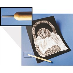 Brosse poils métalliques pour carte à gratter (Sachet de 3)