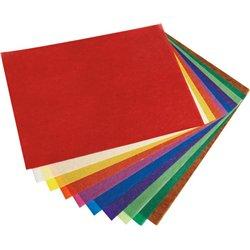 Pochette 10 feuilles assorties papier vitrail 18.5 x 30 cm