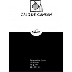 Feuille papier calque 70gr format 21x29.7 (Pochette de 12)