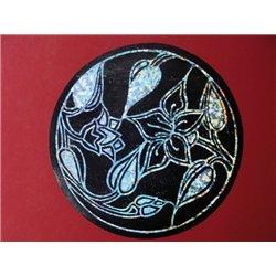 Feuille de carte a gratter 15x21 cm noir/argent holographique (Pochette de 10)