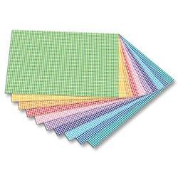 Paquet 10 feuilles carton vichy 50 x 70 cm couleurs assorties