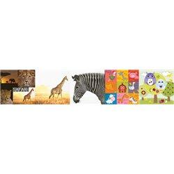 Paquet de 100 serviettes papier motifs animaux
