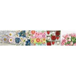 Paquet de 100 serviettes papier motifs fleurs