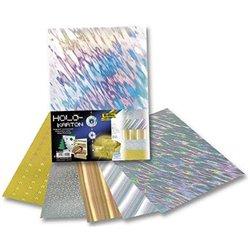 Pochette 5 feuilles carton holographique 25x35 cm 230g