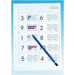 Cahier d'exercices train à compter