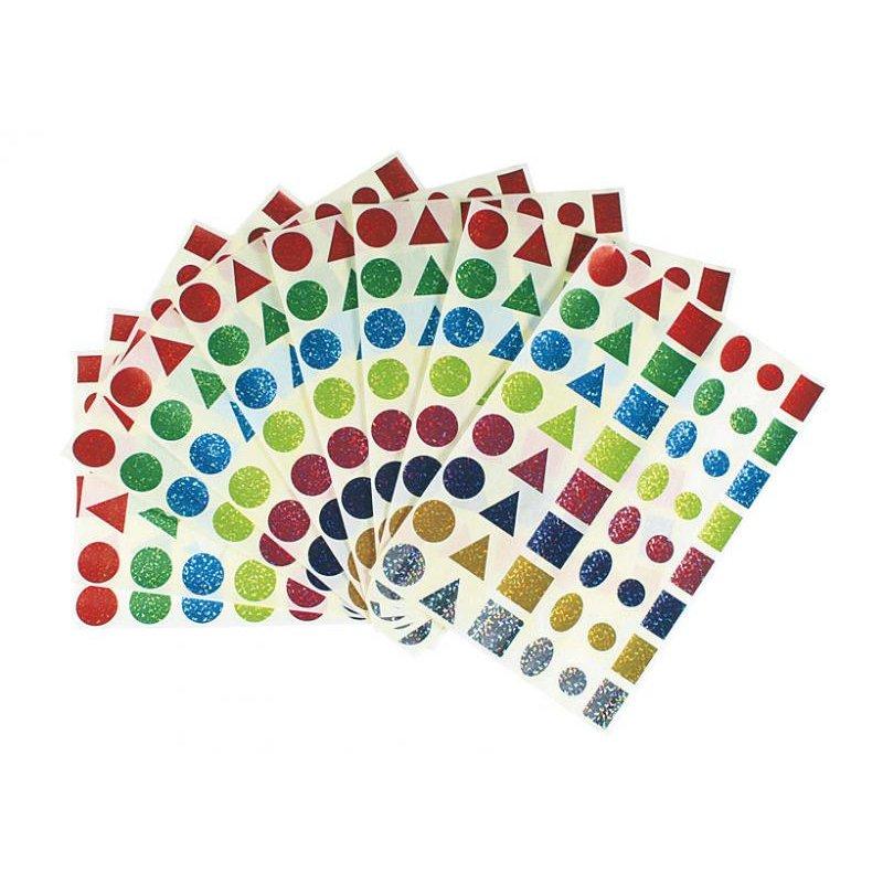 Pochette de 480 pastilles holographiques 6 grosses formes