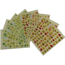 Pochette 8 planches 464 feuilles d'arbres adhésives repositionnables