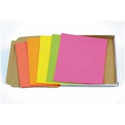 Paquet 100 feuilles affiche fluo A4, couleurs assorties - 90 g