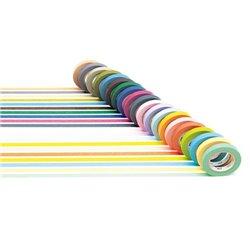 Boîte de 20 rubans adhésifs repositionnables masking Tape couleurs assorties