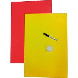 Paquet 10 feuilles affiche fluo cartonnée effaçable recto verso 550 g 40x60 cm
