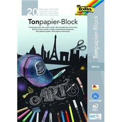 Feuille noire dessin 130 g recyclé, format 21 x 29,7 (Bloc de 20)