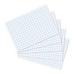 Feuille bristol 224g blanc quadrillé 5 x 5 (Paquet de 10)