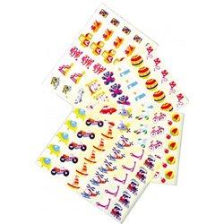 Pochette de 12 feuilles de 30 gommettes prédécoupées - jouets / locomotions