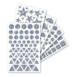Pochette 20 planches gommettes holographiques formes et tailles assorties