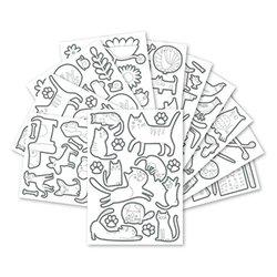 Pochette 20 planches gommettes à colorier