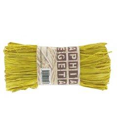Pelote raphia végétal 50g  - jaune
