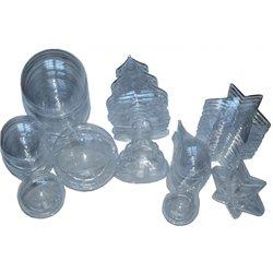 Ensemble de 30 objets plastique à décorer + 6 boules Ø 70mm offertes