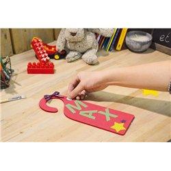 Kit 10 plaques de porte mousse à décorer
