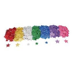Lot de 500 formes étoiles en mousse pailletée adhésives