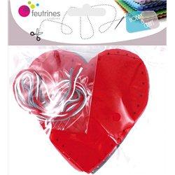 Kit 30 cœurs feutrine à fabriquer