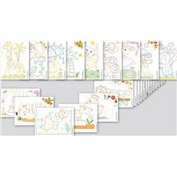Set 24 cartes couleurs animaux en 2d play mais. dim. 11x15cm