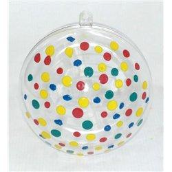 Boule de noël plastique Ø 100 mm (Lot de 6)