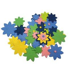 Pochette de 150 formes fleurs en feutrine adhésive