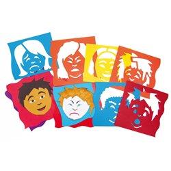 Ensemble de 6 pochoirs les expressions