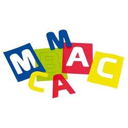 Valisette de 26 pochoirs lettres majuscules 16 x 20 cm
