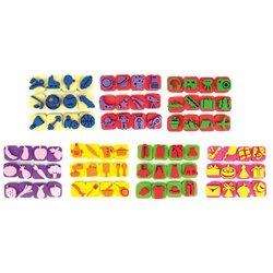 Maxi pack de 84 mini tampons 7 thèmes assortis