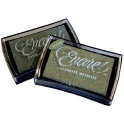 Tampon encreur pour timbres  - argent