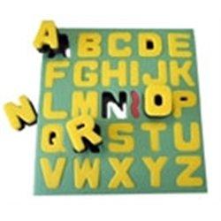 Tampon pochoir éponge double densité avec support - les lettres majuscules