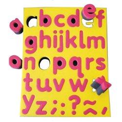 Tampon pochoir éponge double densité avec support - les lettres minuscules