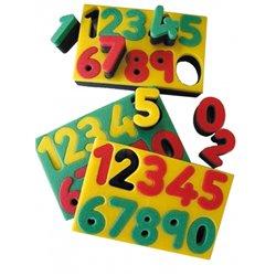 Tampon pochoir éponge double densité avec support les chiffres