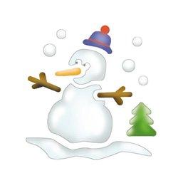 Pochoir plastique lavable 14,5 x 14,5 cm (Pochette de 6) - Noël