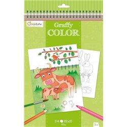 Bloc de 24 feuilles Les animaux à colorier