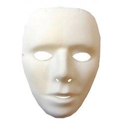 Masque vénitien à décorer unisexe (Lot de 12)