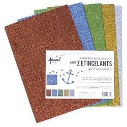 Paquet de 5 feuilles mosaïques A4 assorties