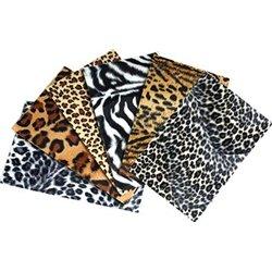 Lot 6 planches fourrure animaux de la jungle