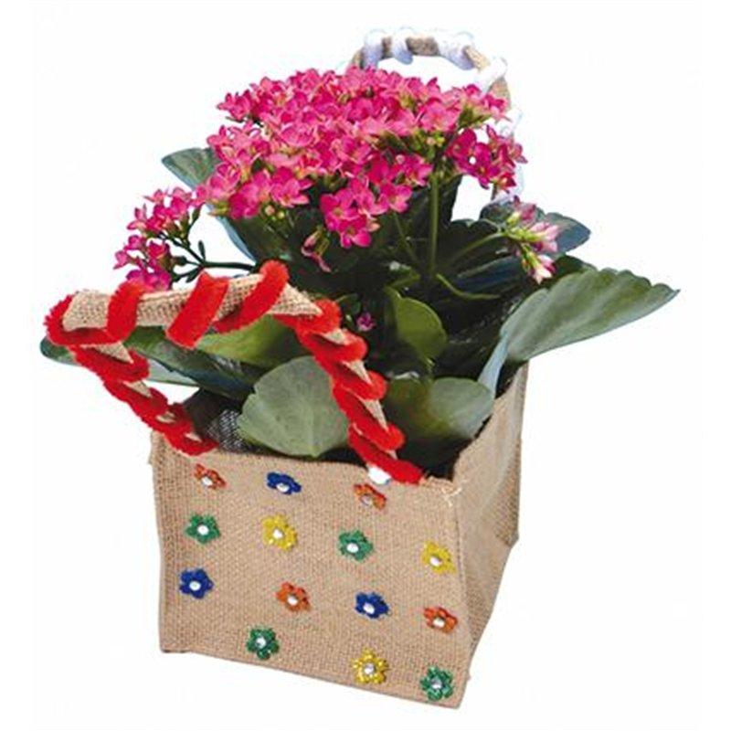 Sacs à fleurs en toile de jute