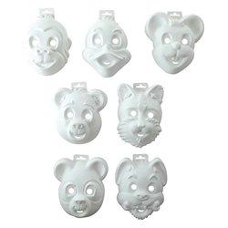 Lot 14 masques animaux amusants 7 modèles assortis