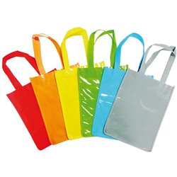 Lot 6 sacs shopping coton en couleurs assorties 30x23 cm